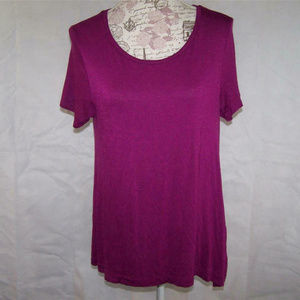 Old Navy Shirt Soft Stretchy Purple Short Sleeves